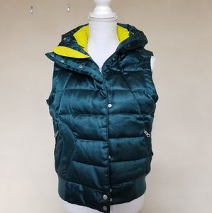 North Face 550 Down Hooded Puffer Vest M